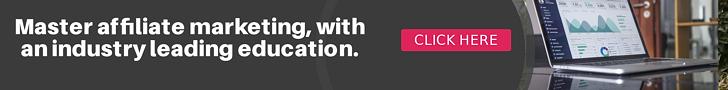 Banner advert for affiliate marketing training